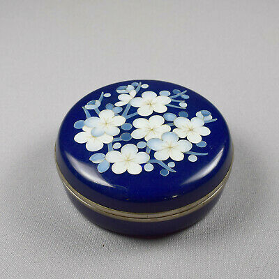 Japanese Cloisonne Box And Cover With Prunus Decoration - Ando Company