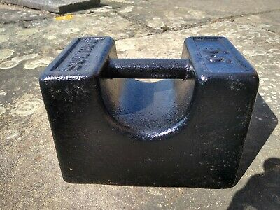 Vintage Rustic Cast Iron  56lb Pound Weight Door Stop Avery Type.
