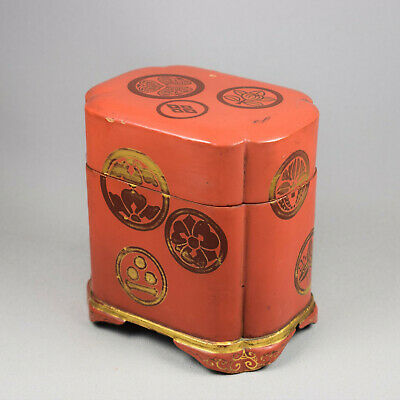 A Red Lacquer Gilt Decorated Two-Pack Card Case - Taisho / Showa