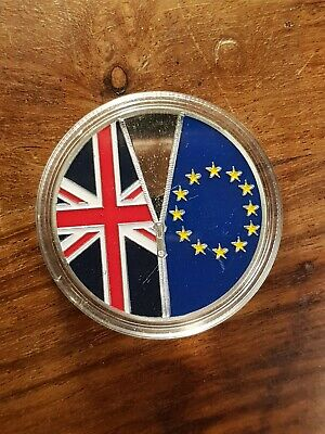 Brexit Silver Plated Commemorative Coin