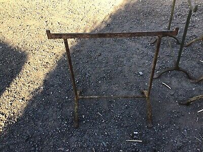 Early 20th century trestle table with original top - VERY RARE