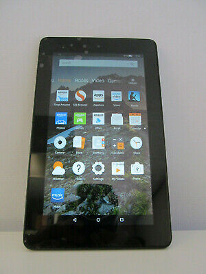 Amazon Kindle Fire 7 8gb 5th Gen Tablet WiFi In Black Front & Rear Webcam 09L9