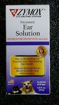 Zymox Enzymatic Ear Solution for Dog & Cat 0.5% Hydrocortisone 1.25 fl oz
