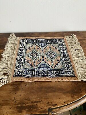Miniature Dolls House Hand Made Oriental Wool Rug With Fringe