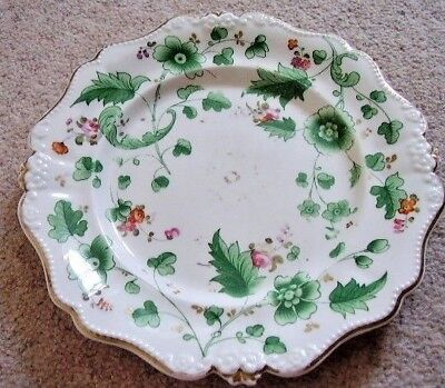 Collectable Antique Coalport Floral China Porcelain Plate,hand painted,2