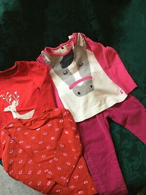 JOB LOT X4 Girls Clothes Age 18-24 Inc Joules Top Other Tops Pink Jeans VGC