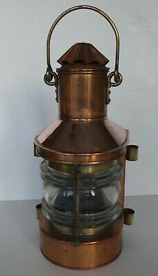 Antique Copper Ships Combined Port and Starboard Lantern