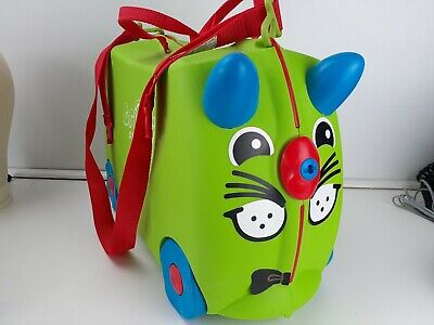 Melissa & Doug Trunki Kids Ride On Carry On Suitcase Luggage Green Blue Red