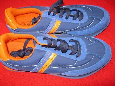 Marks And Spencer Rrp£20 Boys / Girls New Trainers  Uk 6 Eur 39.5 Blue & Orange