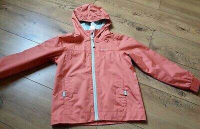 Quechua girls, size age 6, coral, lined, shower proof, hooded rain coat.