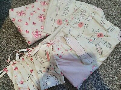 Dunelm Katy Rabbit Toddler Bed Cover Set And Bunting