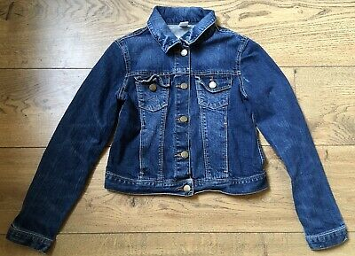 Gap kids, girls large. collared denim jacket, slightly distressed looking.