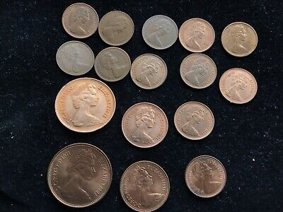 Collectable Coin NEW PENCE 2p + NEW PENNY 1p NEW 1/2p - 1971 1980