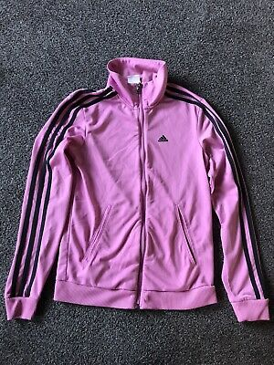 Girls Pink Adidas Tracksuit Top Size 2xs