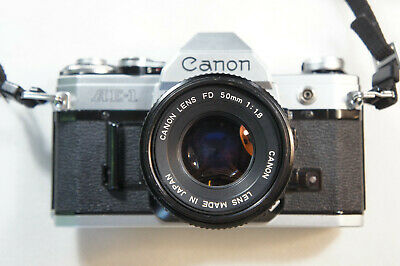 Canon AE-1 35mm Film Manual Camera w/ 50mm F1.8 Lens Excellent Condition