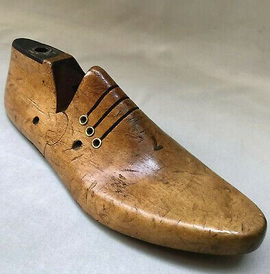 Vintage Wooden Traditional Shoe Last, Interior Decor Home Display Woodenware