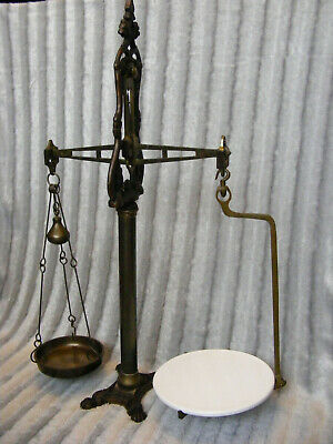 Vintage Antique Style Brass Cast Iron Librasco Shop Beam Balance Weighing Scales