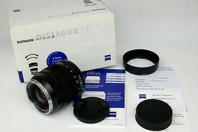 Carl Zeiss 35mm f2 T* Distagon ZE, Boxed Canon Fit Full Frame/APS-C format lens