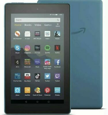 Amazon Fire 7 Kindle Tablet with Alexa, 16 GB in TWILIGHT BLUE, New UK Model