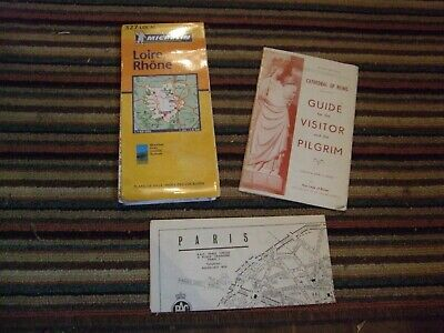 Collection of 3 vintage Maps/brochures of France