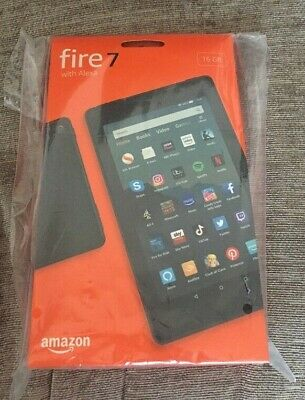 Fire 7 Kindle Amazon Tablet with Alexa Voice,16 GB BLACK, 9th Gen - UK New Model