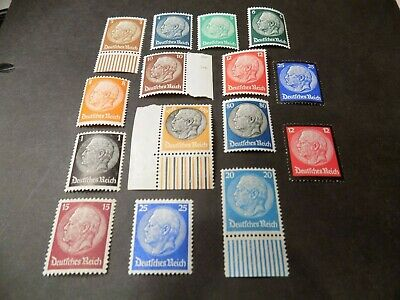 Rare Collection Of 1933/34 Hindenburg German Stamps In Mnh Condition