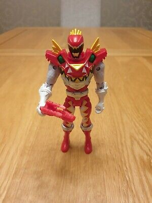 Power Rangers Dino Charge - TRex Supercharge Red Ranger With Weapon