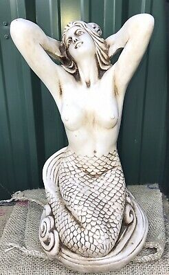 """Gorgeous Large Mermaid Statue 21.5"""" Tall"""