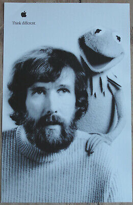 Original Jim Henson Think Different Apple Educational Series Poster AWESOME!