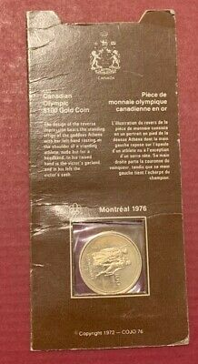 MINT 1976 Canadian $100 Gold Coin 14k from Montreal Olympics Commemorative