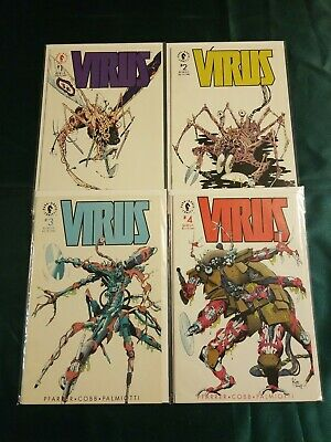 Dark Horse VIRUS comic book set 1,2,3,4,