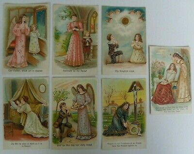 The Lord's Prayer - Embossed Postcards (7) - Angels