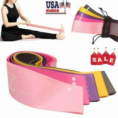 Workout Resistance Bands Loop CrossFit Exercise Fitness Yoga Gym Booty Leg Band