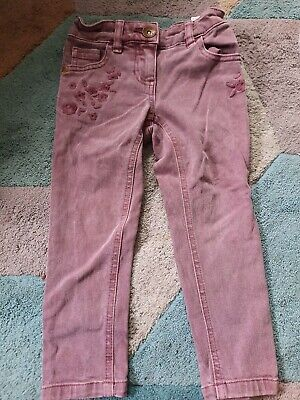 Next Beautiful Floral Girls Purple Jeans Age 3 2-3