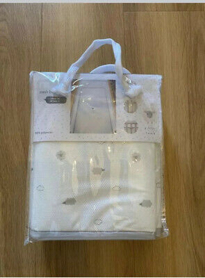 Mothercare Little lamb Mesh Breathable Cot /Cotbed Bumper New RRP £25