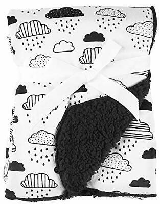 My Baby Boutique Infant Baby Toddler Soft Plush Cloud Print (Black/White)