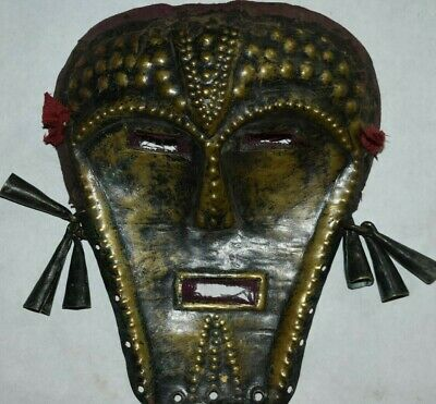 "Sale! Mongolian Evenk Shaman Brass Mask, 8"" Prov"