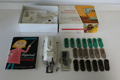 SINGER Professional Buttonholer Sewing Machine Attachment w Cams Slant Shank