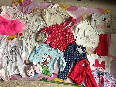 Baby girl clothing bundle lot 9-12 months BNWT Disney H&M Hello Kitty Minnie