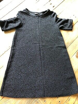 Girls Next Black Sparkly Dress Age 7