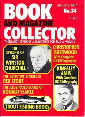 Book & Magazine Collector #34 Jan 1987, Churchill, Rex Stout, Kingsley Amis