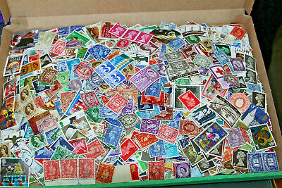 Gb Mix Of Off Paper Stamps In Box - All Eras Mnt & Used - 2000+