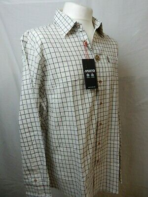 Musto Classic Twill Shirt in Rutmoor Check Medium only