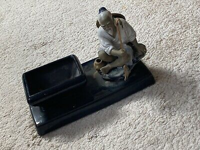 Chinese Japanese Fishing Man Pottery