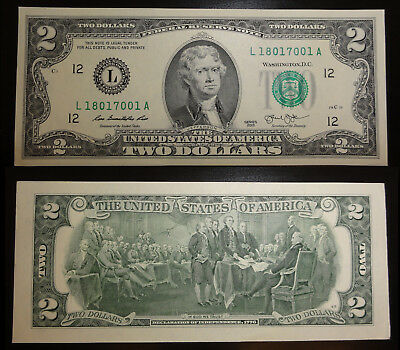 unc. 2 Dollar Schein San Francisco, California (L) 2013 – Two Dollars USA unc.