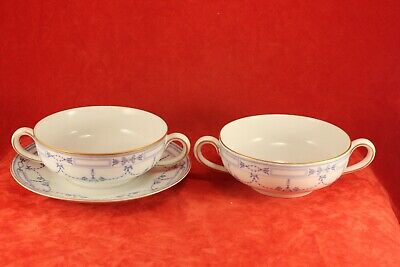 Community China GROSVENOR - 2 Cream Soup Bowls & 1 Underplate - Bavaria Germany