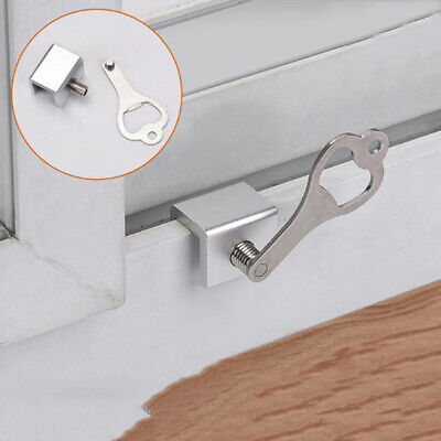 Aluminum Child Lock Safety Sliding Home Door And Window Track Buckle Stopper SH