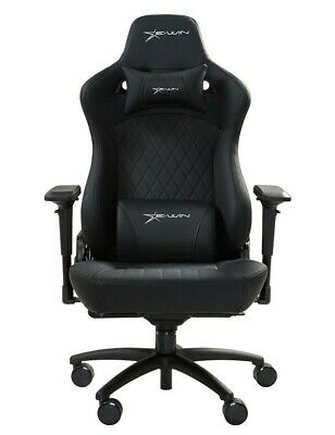 Big and Tall - EWin Gaming Chair Flash Series XL With Head/Back Pillows (Black)