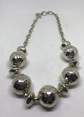 Sterling Silver Bead Style Link Necklace