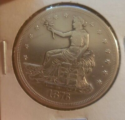 1876 S US United States $1 One Silver Trade Dollar Rare Collector Coin